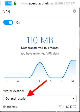opera VPN speeds