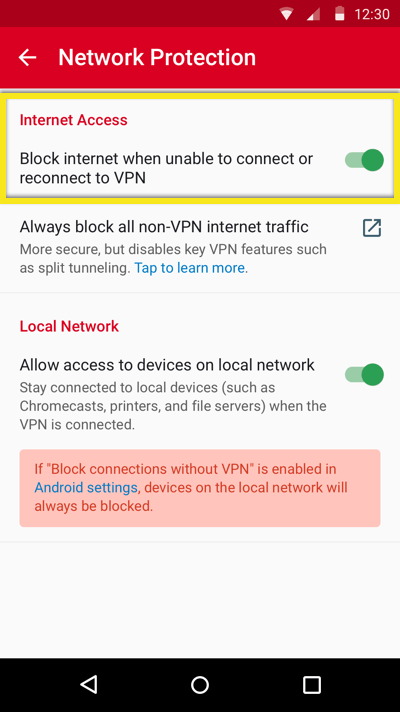 vpn kill switch for android
