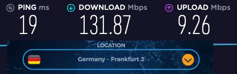 VPNac speed review