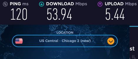 vpnac speeds in USA review
