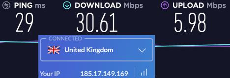 windscribe uk VPN speeds