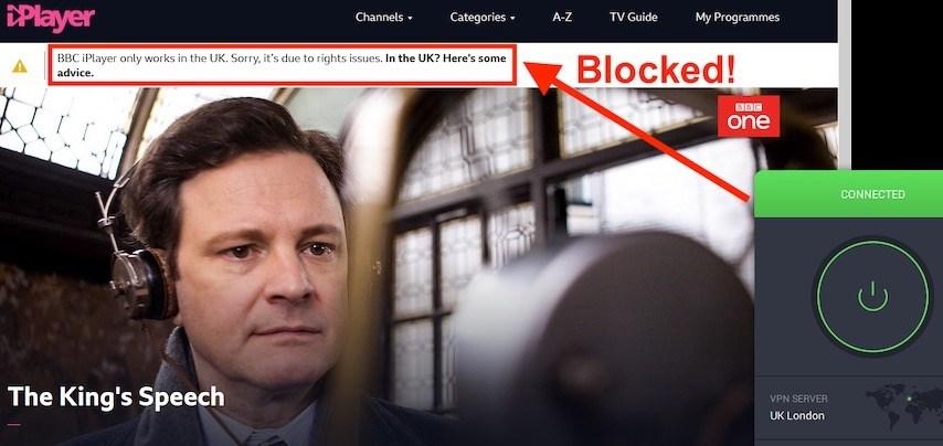 BBC iPlayer pia VPN