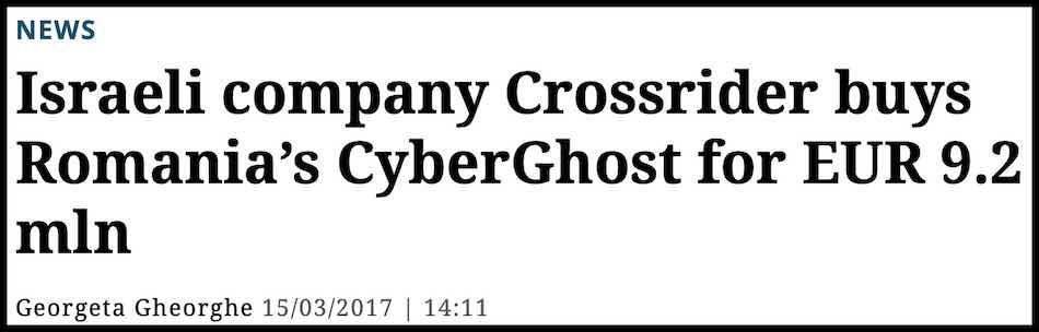 Crossrider owns CyberGhost Kape