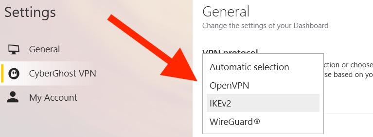 CyberGhost WireGuard VPN