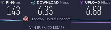 CyberGhost slow servers in the UK