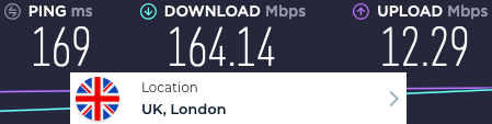 HideMyAss server speeds