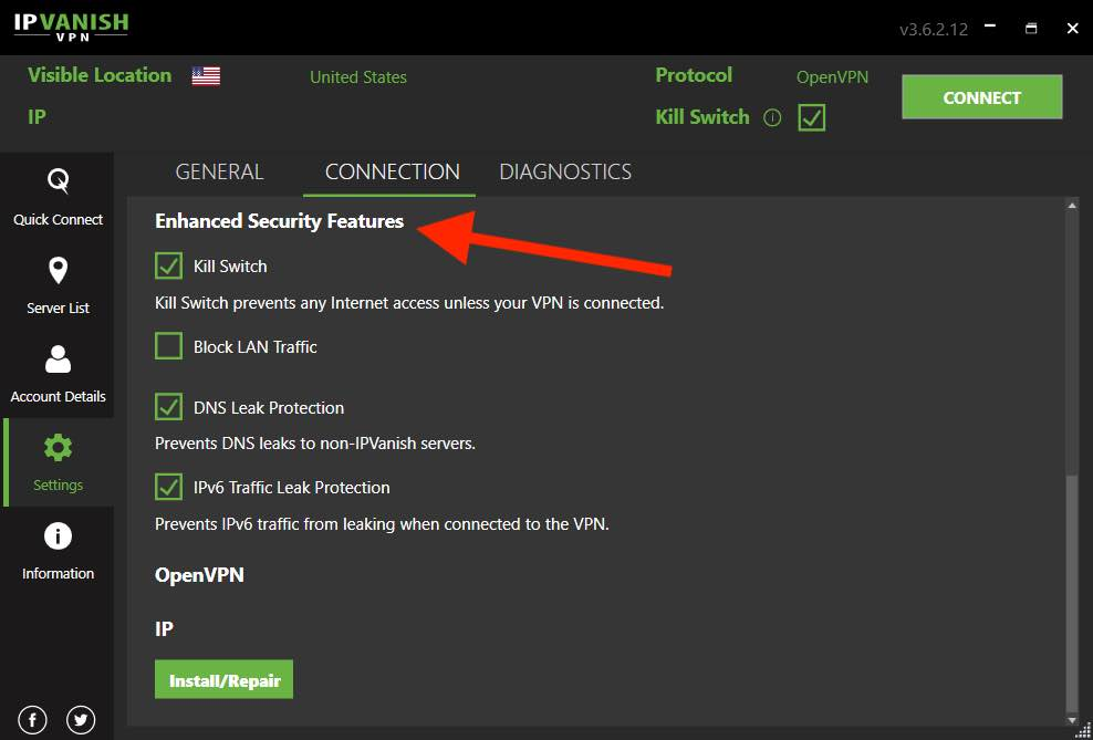 IPVanish features vs NordVPN