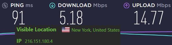 IPVanish slower than NordVPN