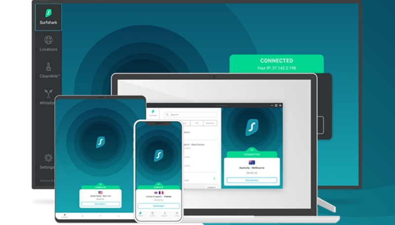 Surfshark VPN apps vs PIA