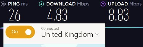 Tunnelbear speeds vs nordvpn