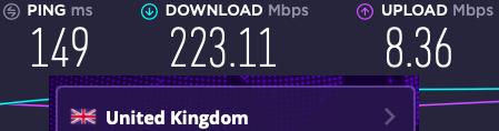 UK speeds with VyprVPN and ExpressVPN