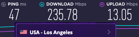 Vypr vs Express server speeds