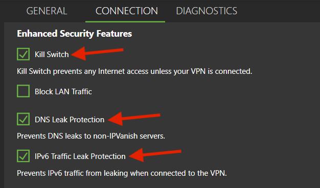 ipvanish kill switch security privacy