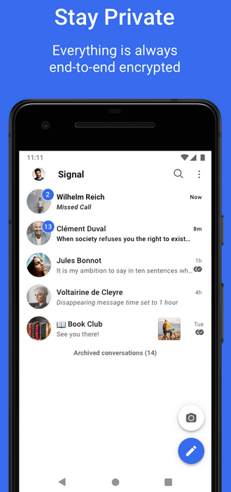 signal messenger android image