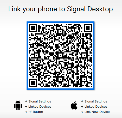 signal messenger desktop linking