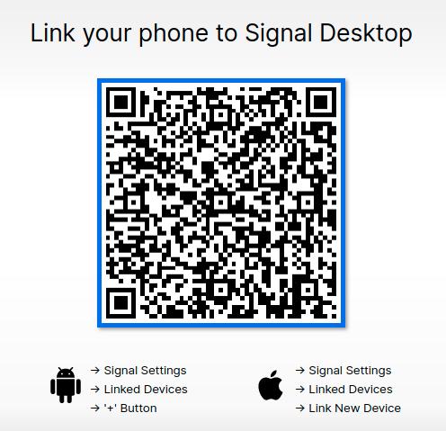 signal messenger desktop linking