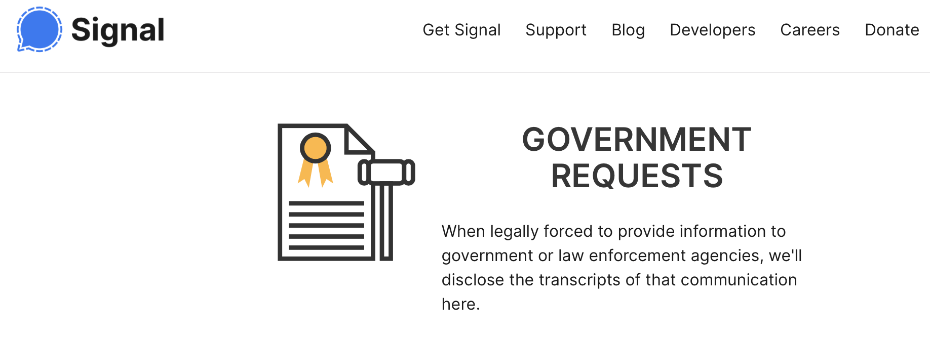 signal encryption report