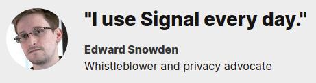 snowden on signal