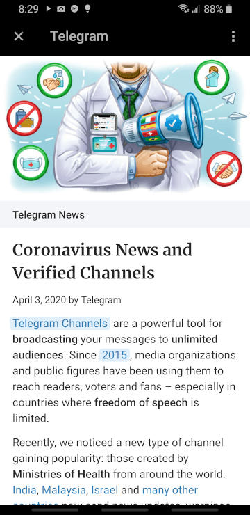 telegram instant view
