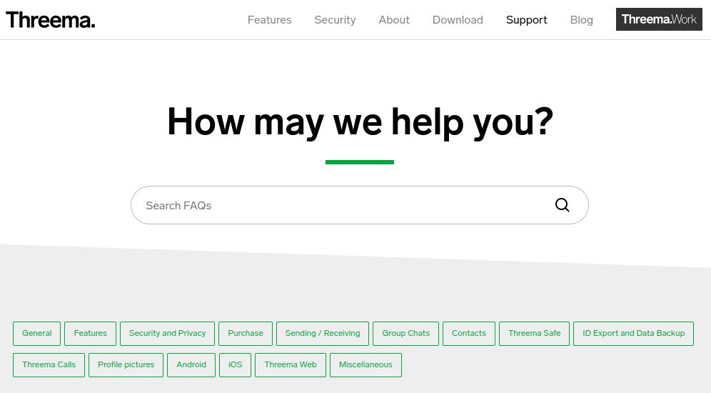threema support page