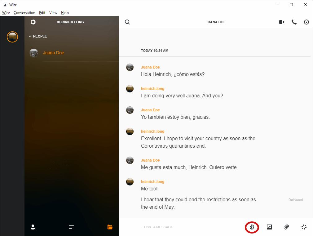 wire chat desktop