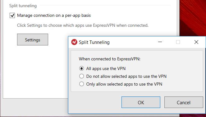 expressvpn split tunneling vs cyberghost