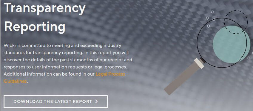 wickr transparency report