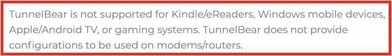 TunnelBear apps vs ExpressVPN apps