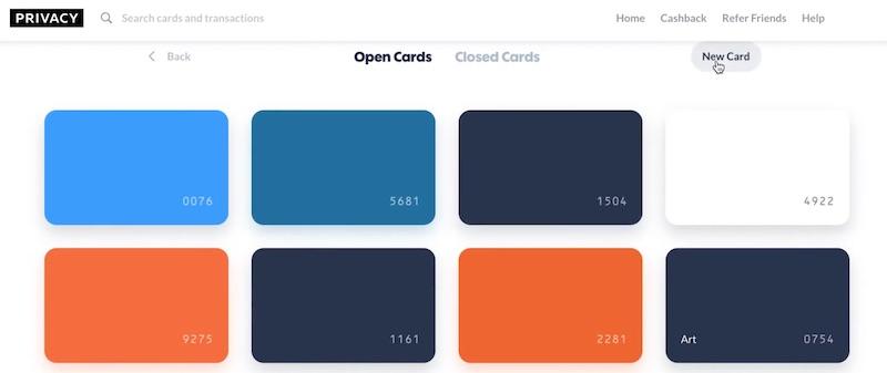 Privacy.com virtual cards