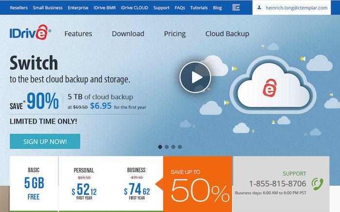 idrive cloud storage
