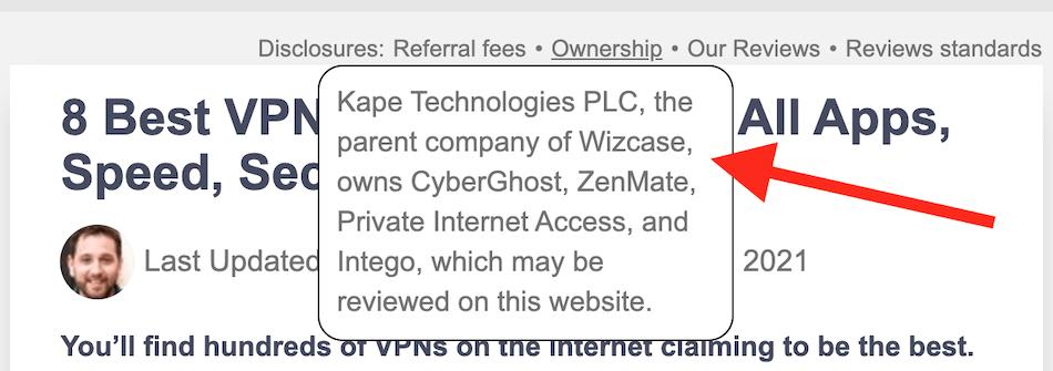 Kape owns wizcase.com