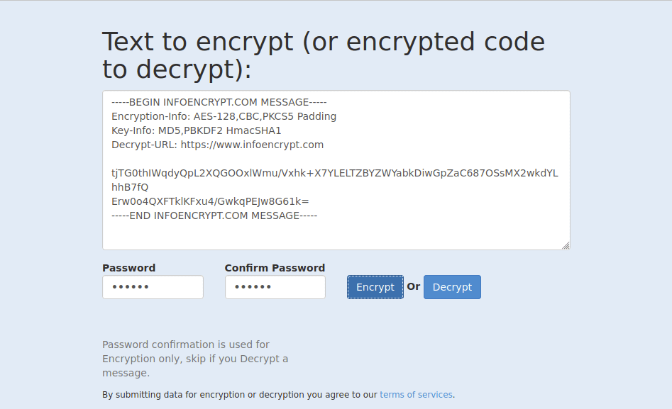 After encryption.