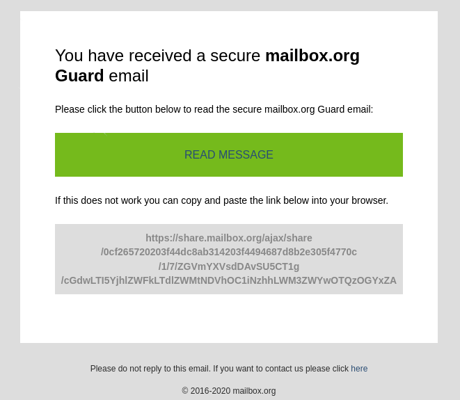 mailbox.org encrypted message