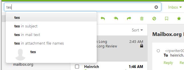 mailbox.org search