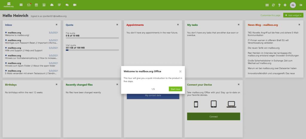 mailbox.org portal