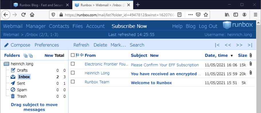 runbox secure email