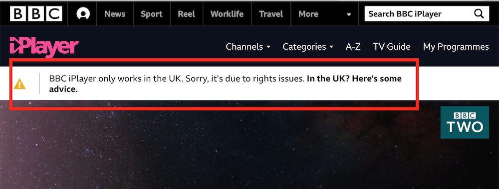 BBC iPlayer not working with VPN