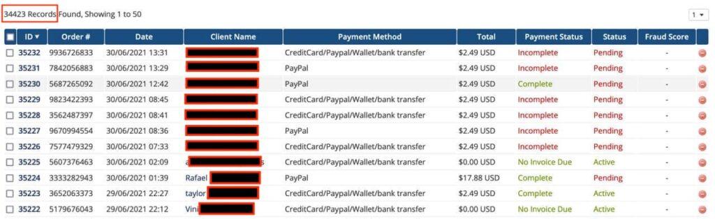 LimeVPN data hacked transactions