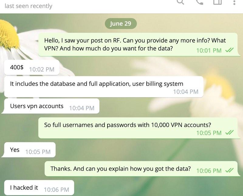 LimeVPN hack data breach for sale