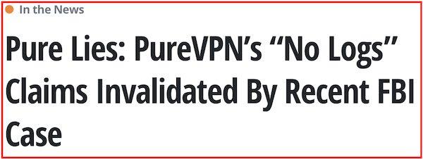 PureVPN Logs vs ExpressVPN