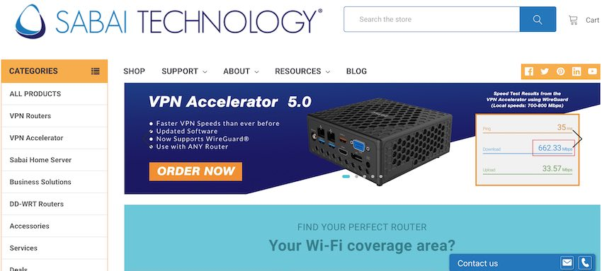 Sabai Technology VPN router