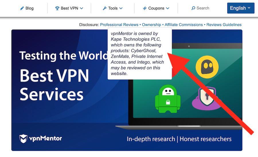 VPN review website scams