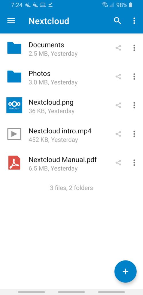 nextcloud android app