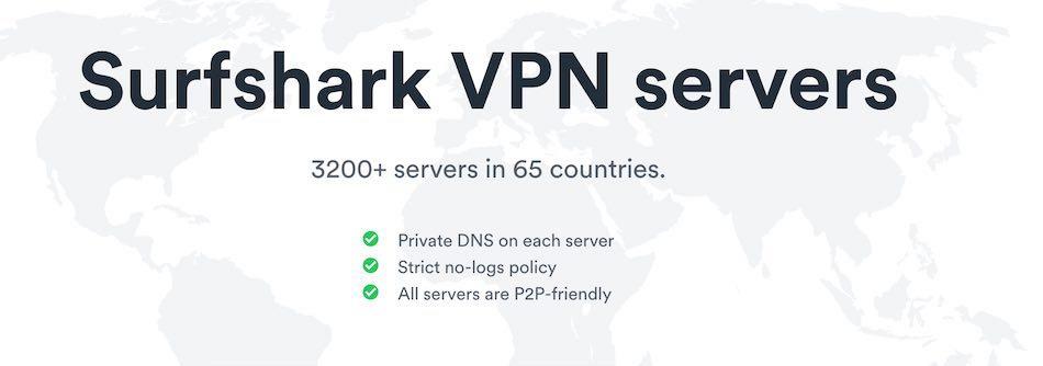 surfshark servers