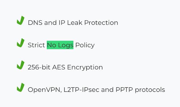CyberGhost VPN logs