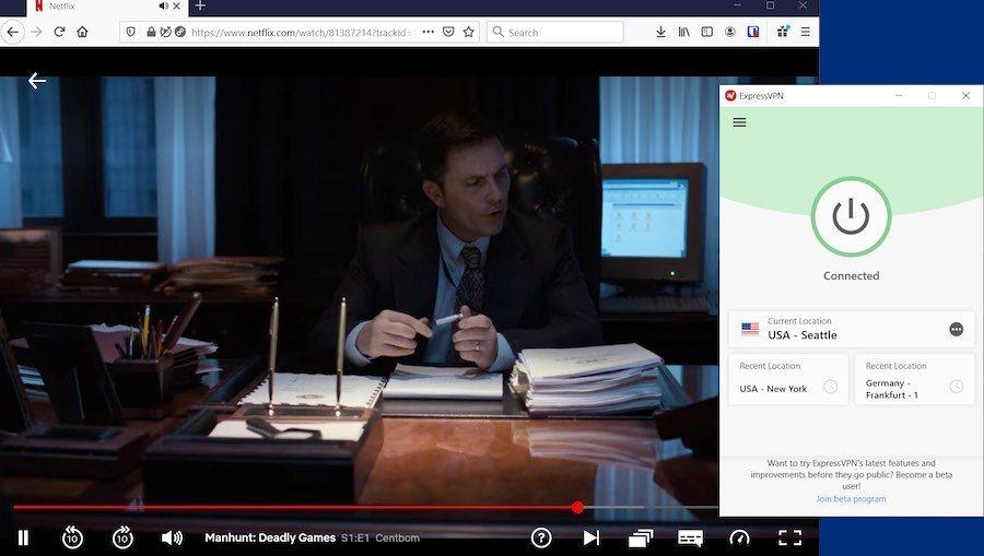 Express VPN to watch Netflix