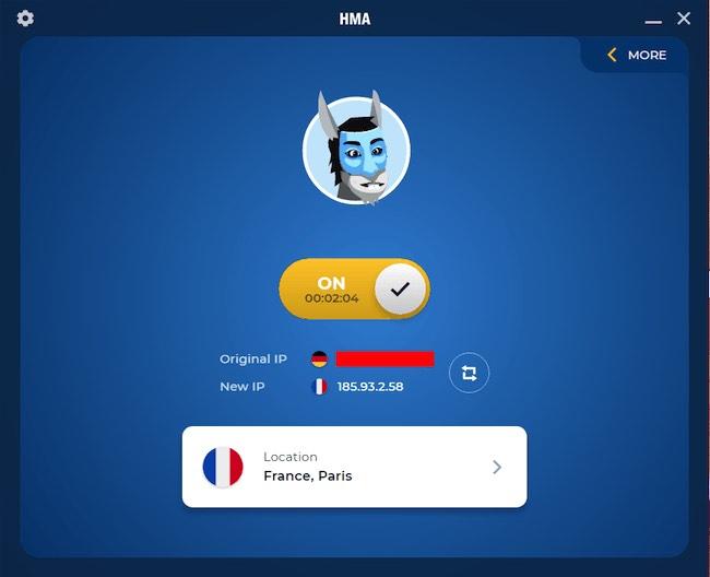HMA VPN on Windows