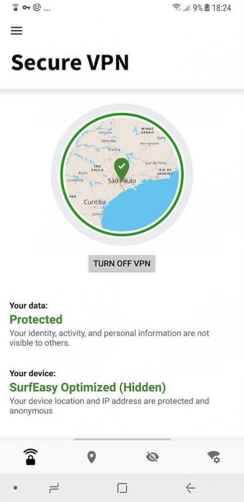 Norton VPN Android app