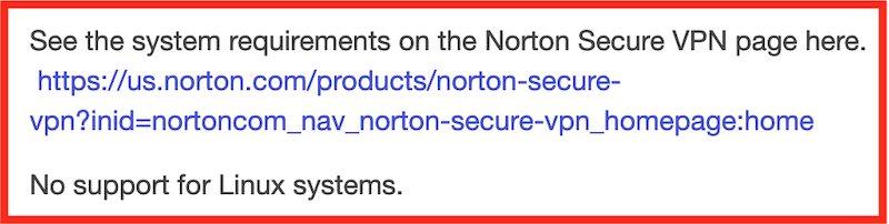 NortonVPN Linux