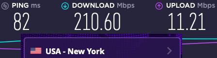 VyprVPN server speed test